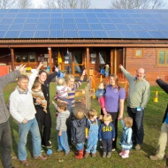 Children's Centre - Brendon Energy then directors with centre staff and children