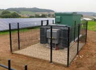 Sandy Moor - inverter building and sub-station in second field