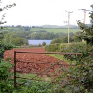 Sandy Moor - view from South West over ploughed field