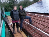 Children's Centre - Andy, Director of Eco-Exmoor, and Steph, Manager of the Children's Centre