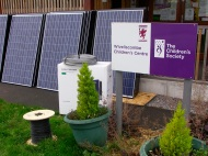 Children's Centre - panels, boxed inverter and cable
