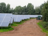 First field with inverters and sub-station
